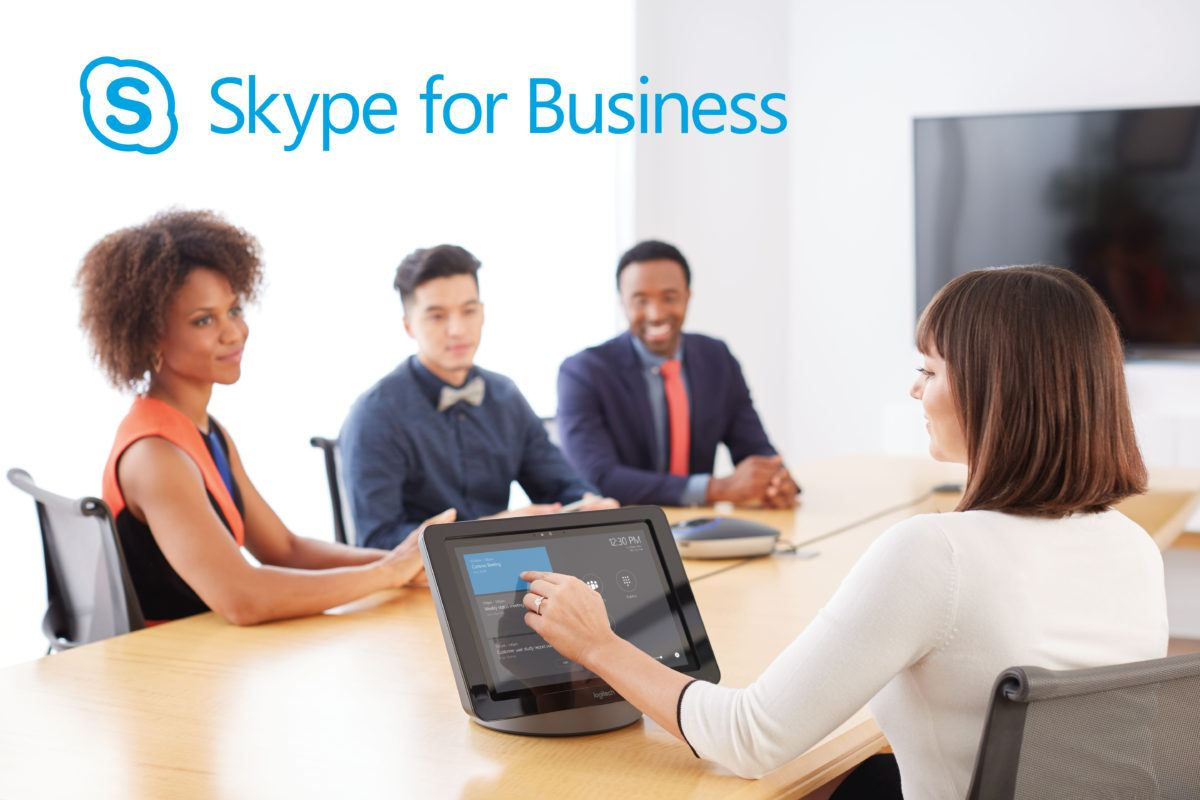 skype for business in a meeting room