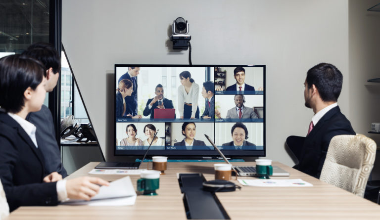 Video,Conference,Concept.,Telemeeting.,Videophone.,Teleconference.